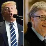 マイクロソフトの共同設立者であるビル・ゲイツと米国のドナルド・トランプ氏