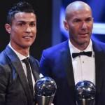 クリスティアーノ・ロナウドが最高のサッカー選手を獲得した。ジネディーヌジダン、最高のサッカーを獲得