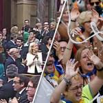 カタルーニャの155人のメンバーでスペインから独立した人が66人、77人が権力を握った。