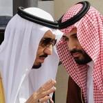Saudi King Salman bin Abdul Aziz and Crown Prince Mohammad bin Salman