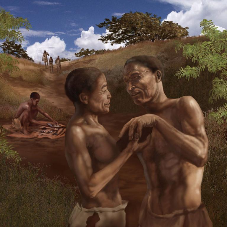 アフリカの70,000歳の人間の移動指標