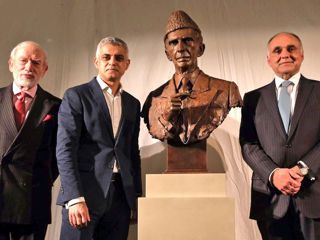 Quaid-e-Azam Muhammad Ali Jinnah大英博物館での式典の彫刻