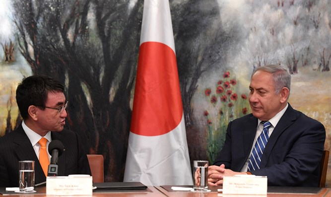 ネタニヤフは日本のFMに会う河野太郎