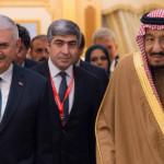 サウジアラビア王キル・サルマン・ビン・アブドゥラジツ、トルニ首相ビニ・イルディリム