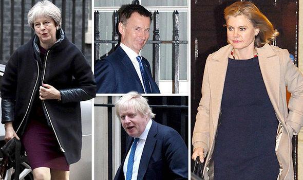 5人の閣僚は、英国首相テレーズ・メイの内閣の変更の間、地位を維持することができました。