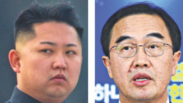 韓国の趙明均(チョ・ミョンギョン)大統領と金正日(キム・ジョンイル)総書記