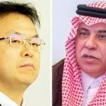 サウジ商工大臣、マジッド・アル=カサビ(Majid Al-Qasabi)博士、産業貿易大臣、セコ・ヒロシゲ
