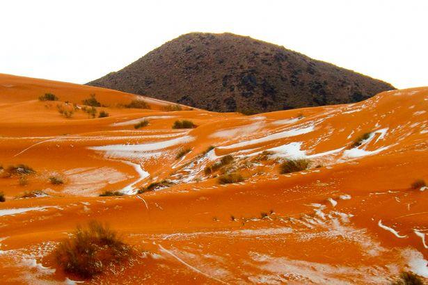 40年ぶりにサハラ砂漠に雪が降る