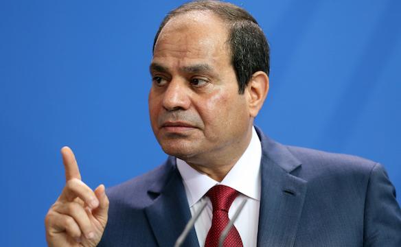 エジプト大統領アブデル・ファッタ・アルシシ