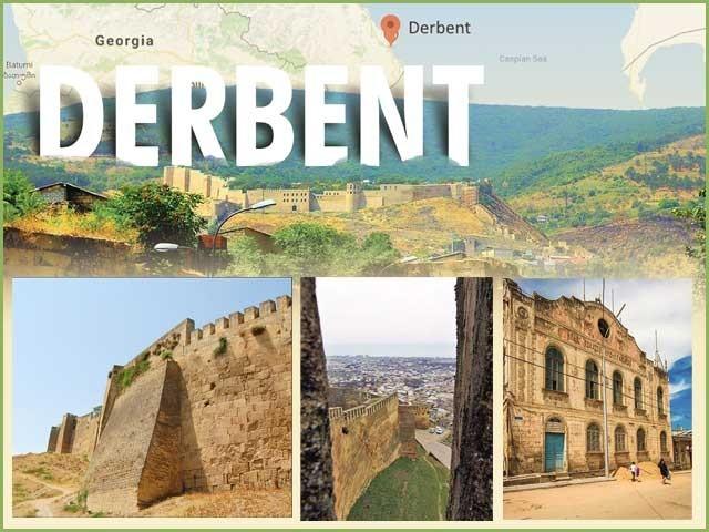 Derbentの最も古くからのロシアの都市