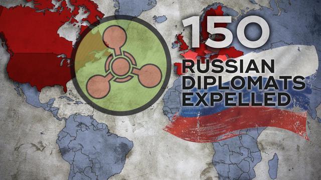 米国を含む欧州諸国は、150人のロシア大使館に出国を命じた
