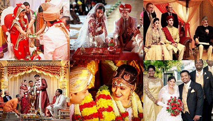 結婚はすべての宗教の人々が彼らの伝統と文化を保ち続ける儀式です