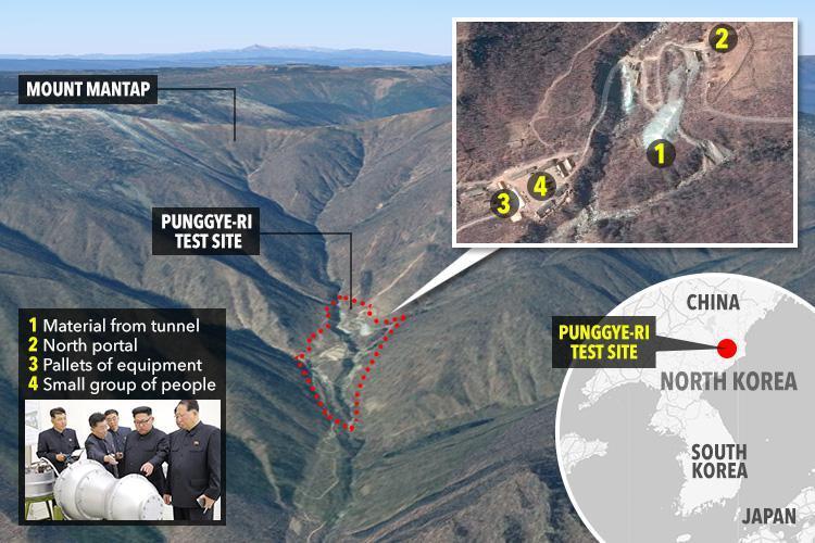 北朝鮮は、核兵器が5月23日と25日に破壊されることを発表