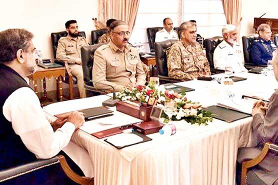 Shahid Khaqan Abbasi首相は国家安全保障委員会の議長を務めている