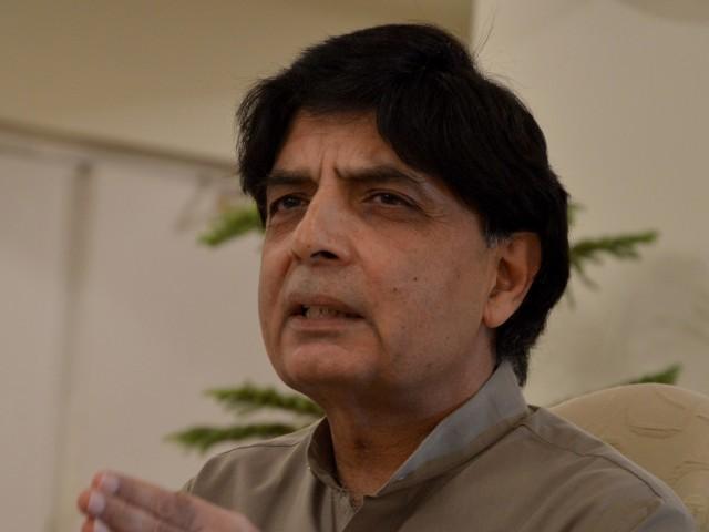 Chaudhry Nisar Ali Khan元内務大臣