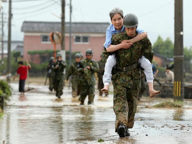 日本の豪雨による死者数は175人に達した