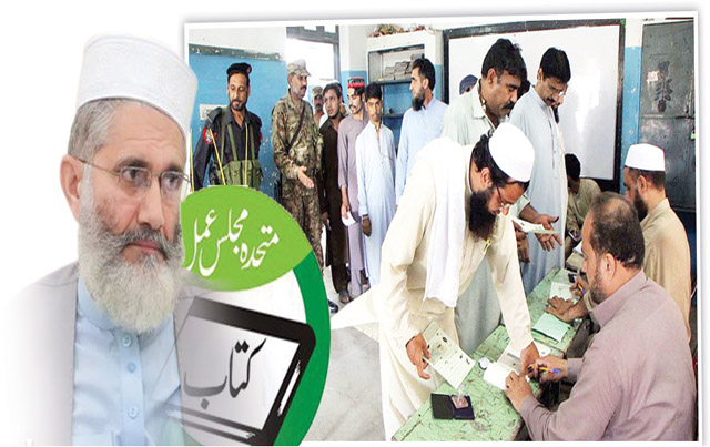 Muttahida Majlis-e-Amal副大統領とJamaat-e-IslamiパキスタンAmir Sajaj ul Haq