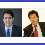 PTIのイムラン・カーン会長とジャスティン・トルドーのカナダ首相