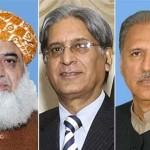 Arif Alvi、Aitzaz Ahsan、Maulana Fazlur Rahman