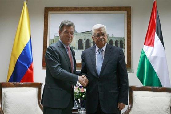 カルロス・ホームズ、コロンビア外務大臣の新政権、パレスチナのマフムード・アッバス大統領