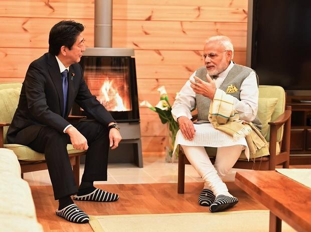 ナレンドラ・モデー首相、日本安倍晋三首相
