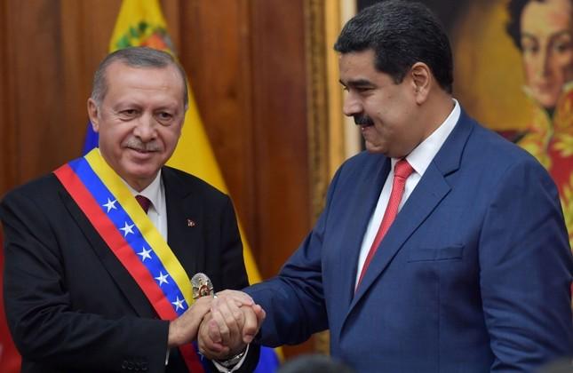 ベネズエラ大統領ニコラスマドゥロとトルコ大統領Recep Tayyip Erdogan