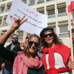 何千人ものレバノン人が汚職に抗議