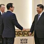 米国通商代表のRobert Lighthizer、Steven Mnuchin財務長官およびXi Jinping中国大統領