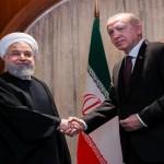 トルコ大統領レセップ・タイップ・エルドアン氏とイラン大統領ハサン・ロハニ氏