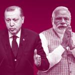 インドのNarendra Modi首相とトルコのRecep Tayyip Erdogan大統領