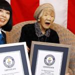 日本の116歳の女性田中杖