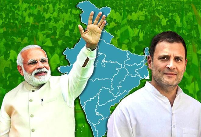 議会指導者ラウルガンジーとBJPは首相ナレンドラ・モディの間で厳しい競争に直面すると予想されました