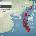 日本の北部は熱帯低気圧クロサの下にあります