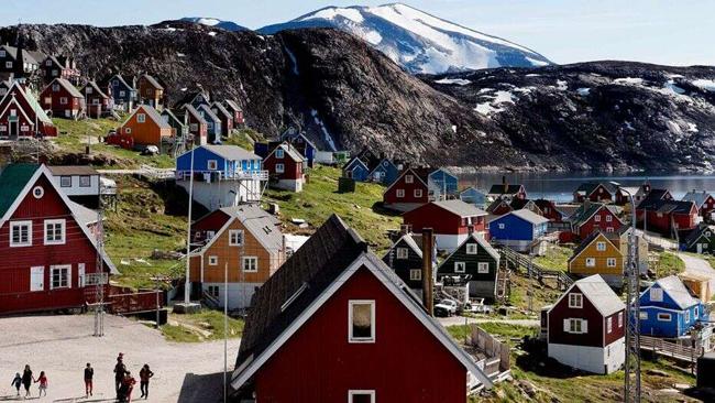 デンマークの独立した領土であるグリーンランド