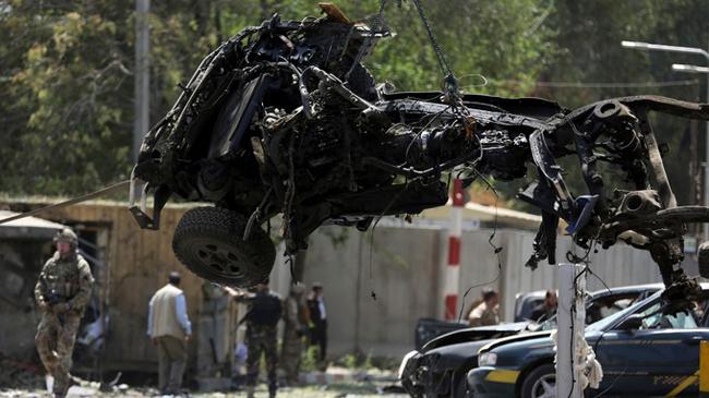 ロケットはアフガニスタンの米国大使館で発射されました