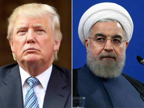 米国大統領ドナルドトランプとイラン大統領ハッサンルーハニ