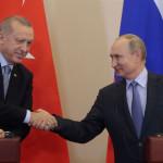 トルコのレジェップ・タイイップ・エルドアン大統領は、ソチでロシアのウラジミール・プーチン大統領と会談
