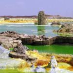 エチオピアのダロールの平野は、細菌の生活が存在しないホットスポットです。