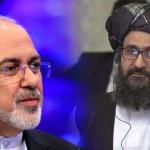 タリバン代表団ムラ・アブドゥル・ガニ・バラダールとイラン外相ジャワド・ザリフ