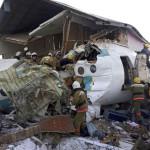 今朝カザフスタンのアルマトイ空港近くでベックエアがcrash落した