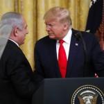 ドナルド・トランプ米国大統領とイスラエルのベンジャミン・ネタニヤフ首相記者会見