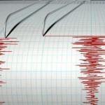 日本の北海道付近の5.4マグニチュード地震
