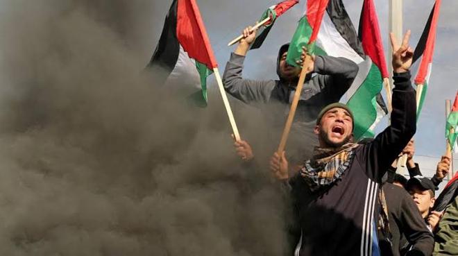 パレスチナ人はトランプの中東和平計画に抗議