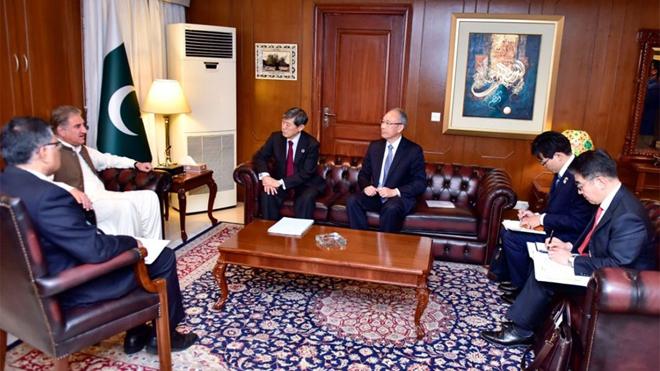国際協力機構(JICA)の北岡真一会長がシャー・マフムード外務大臣と会談