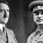 ドイツの指導者アドルフ・ヒトラーとソビエトの指導者ジョセフ・スターリン
