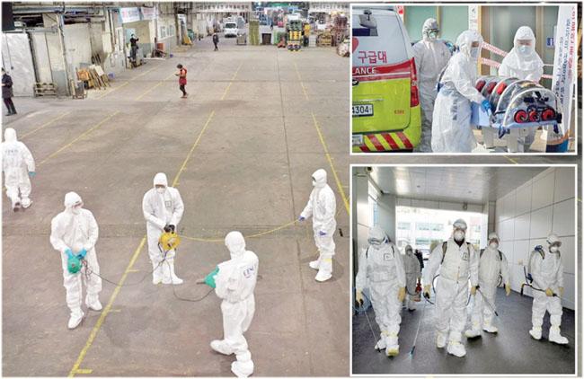 韓国の救助隊は、新しいタイプのコロナウイルスが明らかになった後、発生を防ぐための措置を講じています