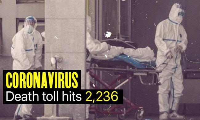 中国のコロナウイルスによる死亡者数は2236人です