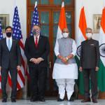 マイク・ポンペオ米国務長官とマーク・エスパー国防長官が2日間のインド訪問でニューデリーに到着