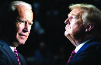 大統領候補のドナルド・トランプと民主党候補のジョー・バイデン