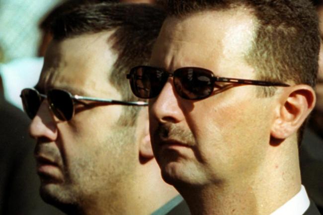 シリアのバシャールアルアサド大統領と彼の兄弟マハーアルアサド